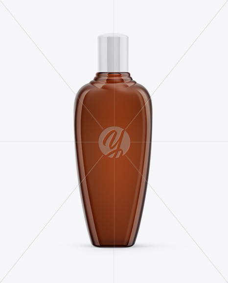 Amber Shampoo Bottle Mockup