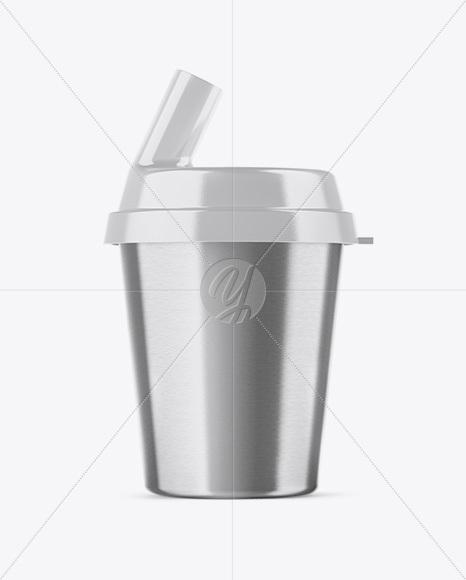 Metallic Pill Swallowing Cup Mockup
