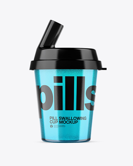 Plastic Pill Swallowing Cup Mockup