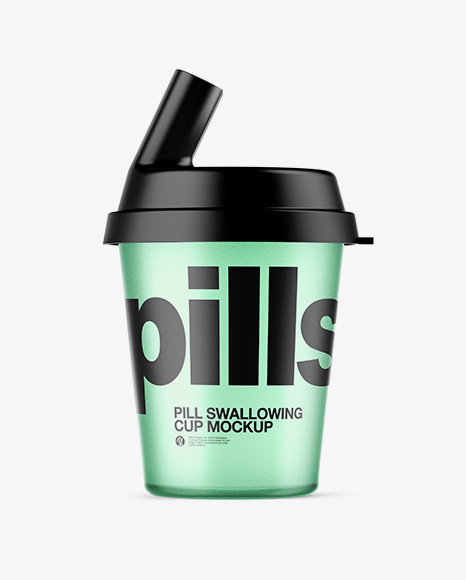 Download Free Plastic Pill Swallowing Cup Mockup PSD Template