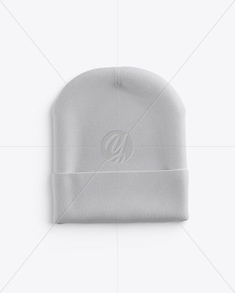 Beanie Hat Mockup - Top View