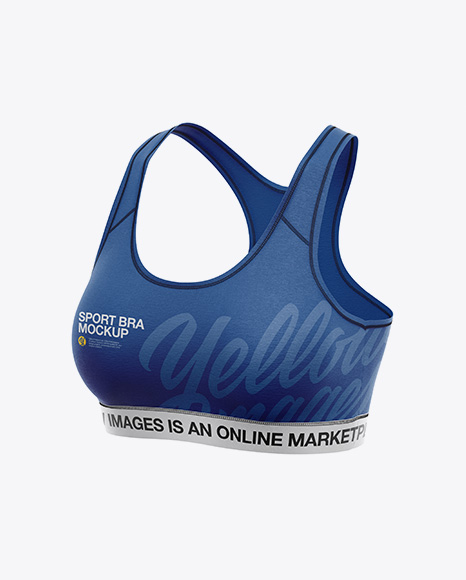 f43837d4ce9 Women's Sports Bra Mockup - Front Half Side View PSD Template - Free ...