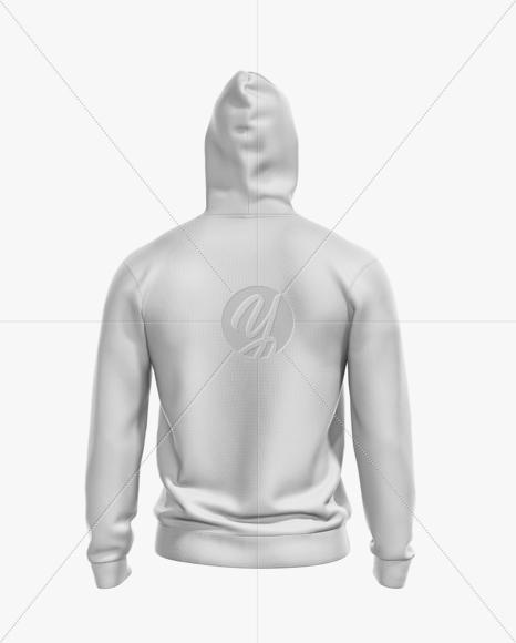 Men's Full-Zip Hoodie Mockup - Back View