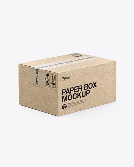 Download Pizza Kraft Box Mockup Half Side View PSD - Free PSD Mockup Templates