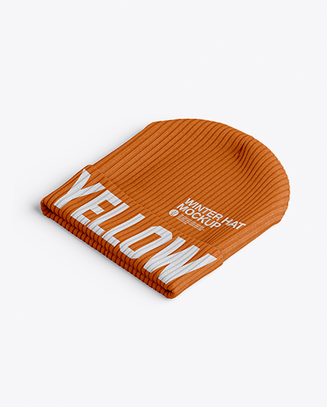fd334d077d7 Beanie Hat Mockup - Half Side View (High-Angle Shot) - Free Download ...