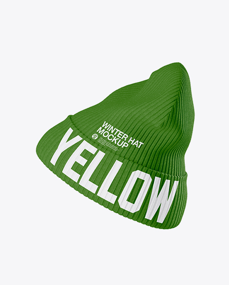 Beanie Hat Mockup - Side View