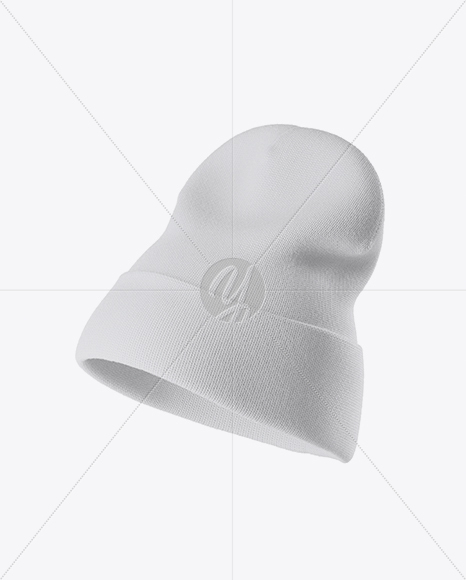 Beanie Hat Mockup - Half Side View