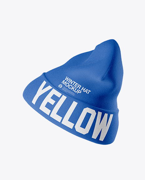 Download Beanie Hat Mockup - Side View Object Mockups
