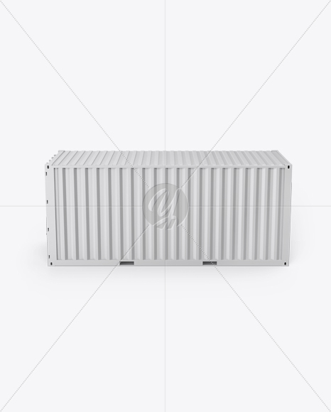 20F Shipping Container Mockup - Front View (High-Angle Shot)