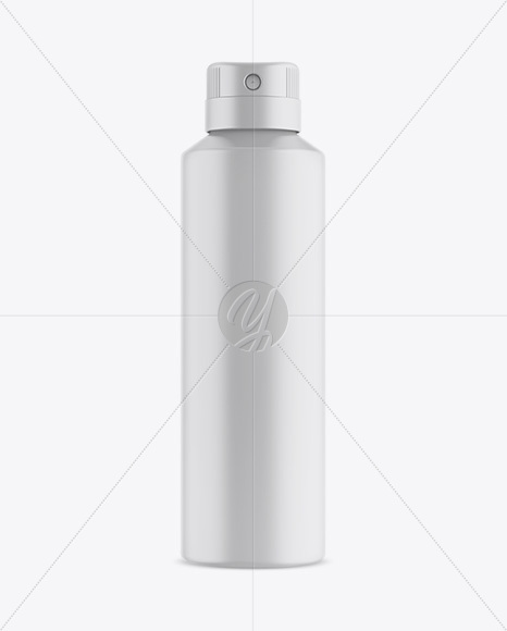 Matte Spray Bottle Mockup - Front View