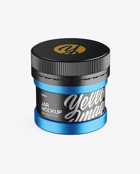 Download Matte Plastic Protein Jar Mockup Front View High Angle Shot PSD - Free PSD Mockup Templates