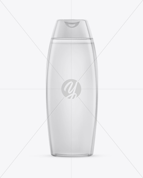 Clear Shampoo Bottle Mockup