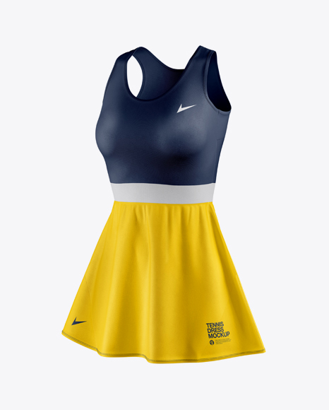 Women's Tennis Dress Mockup Set