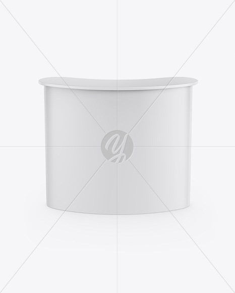Matte Advertising Counter Mockup - Front View (High-Angle Shot)