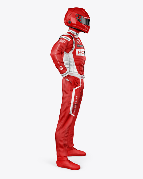F1 racing kit mockup side view free download psd mockup.