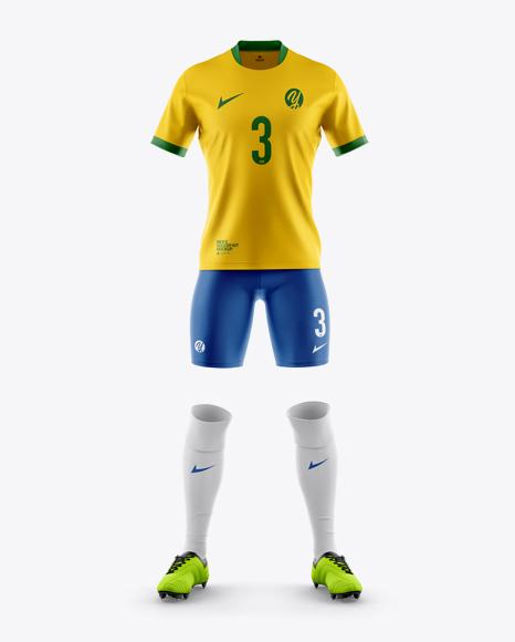 Download Mens Full Soccer Kit Mockup Hero Shot Yellow Images