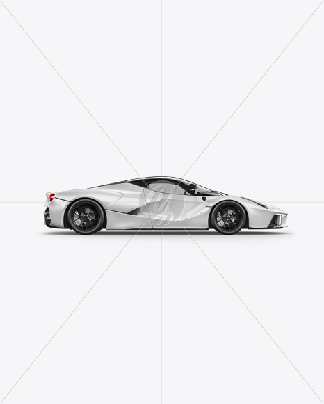 Super Car Mockup - Side View