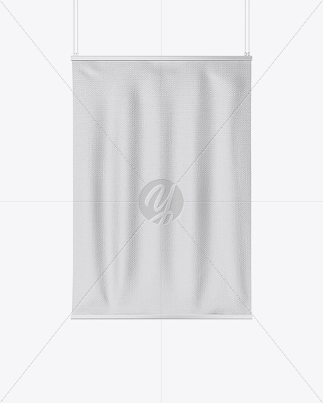 Textured Banner Mockup - Front View