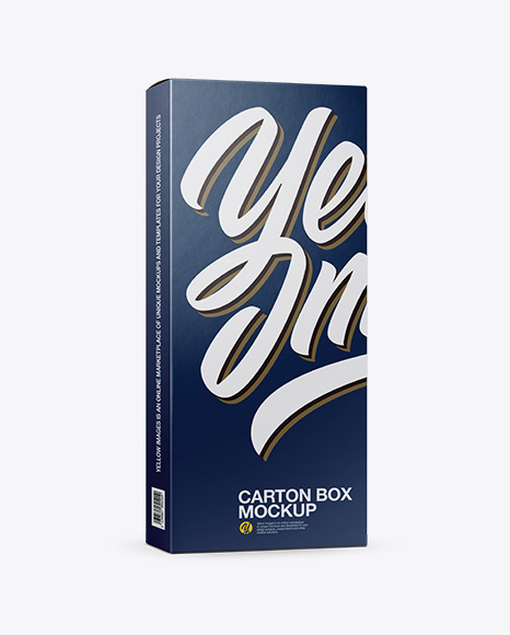 Download Carton Box Mockup - Half Side View Object Mockups