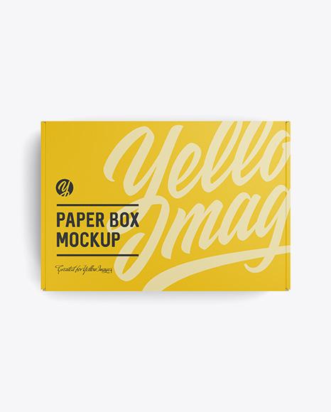 Download Free Matte Box Mockup - Top View PSD Template