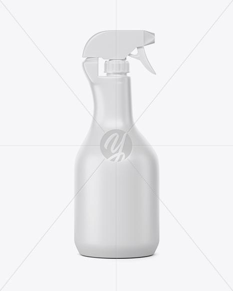 Matte Sprayer Bottle Mockup