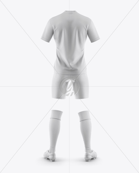 Men's Full Soccer Kit Mockup - Back View