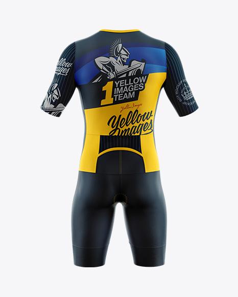 Men's Cycling Speedsuit Mockup - Back View