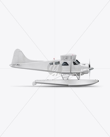 Seaplane Mockup - Side View