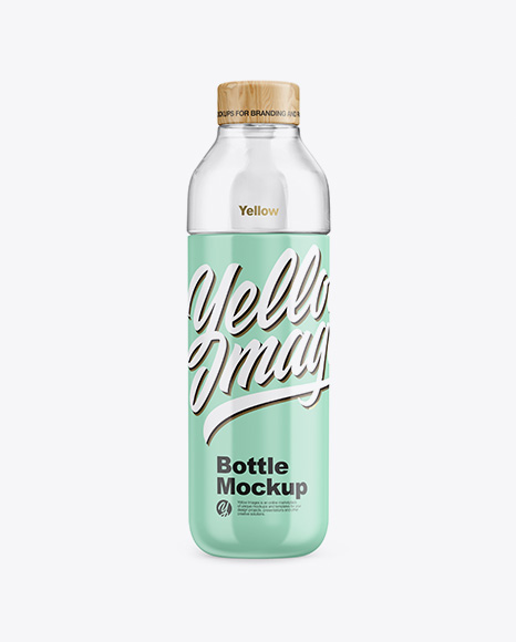 Download Free Glossy Bottle With Water Mockup PSD Template