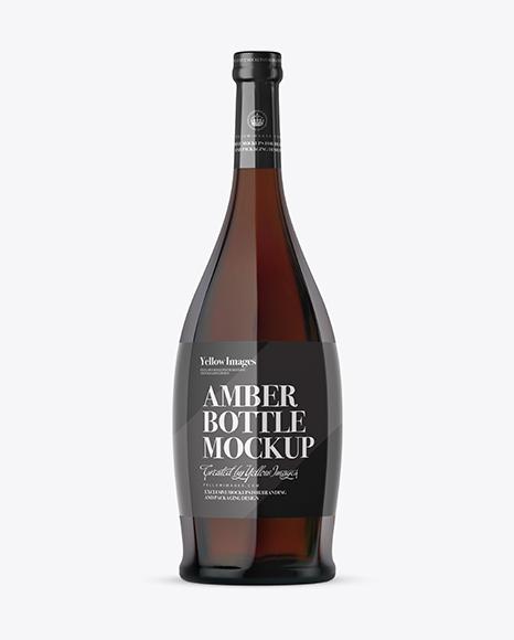Download Amber Glass Liquor Bottle Mockup Object Mockups