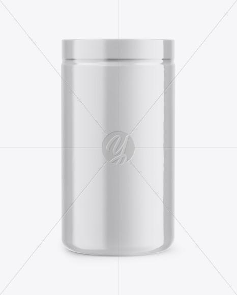 Matte Jar In Shrink Sleeve Mockup- Front View