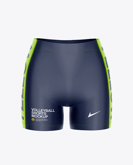 Women's Volleyball Shorts Mockup - Front View