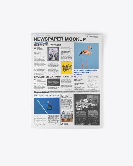 Download Newspaper Mockup - Top View Object Mockups