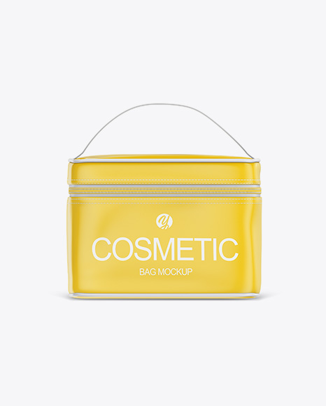 Glossy Cosmetic Bag Mockup - Front View