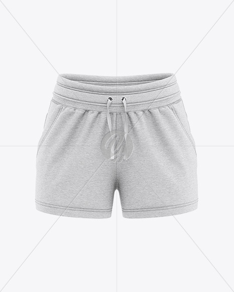 Women's Heather Sport Shorts Mockup - Front View