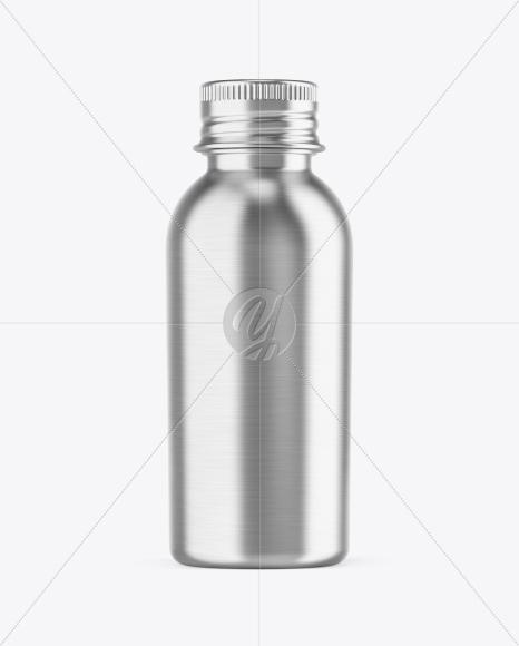 Metallic Drink Bottle Mockup
