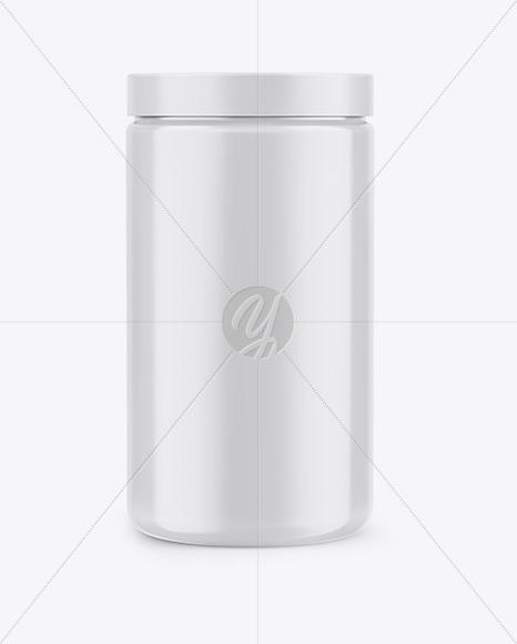 Glossy Jar Mockup - Front View