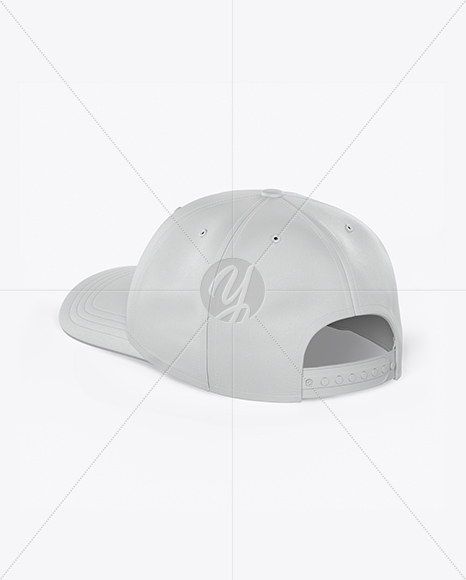 Download Snapback Trucker Cap Mockup Right Half Side View Yellow Images