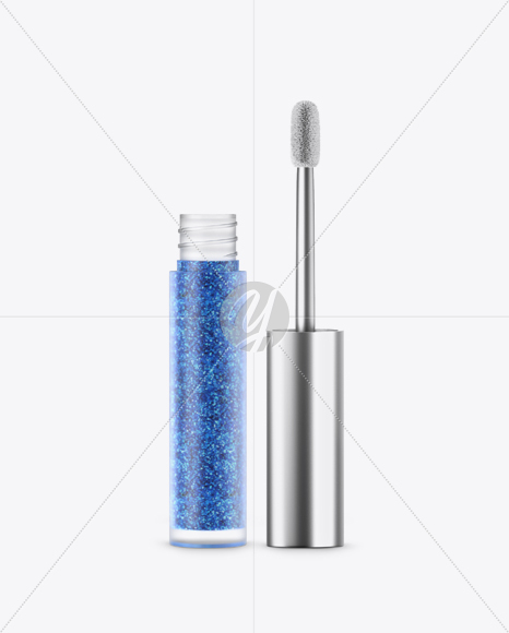 Opened Cosmetic Matte Metallic Bottle Mockup