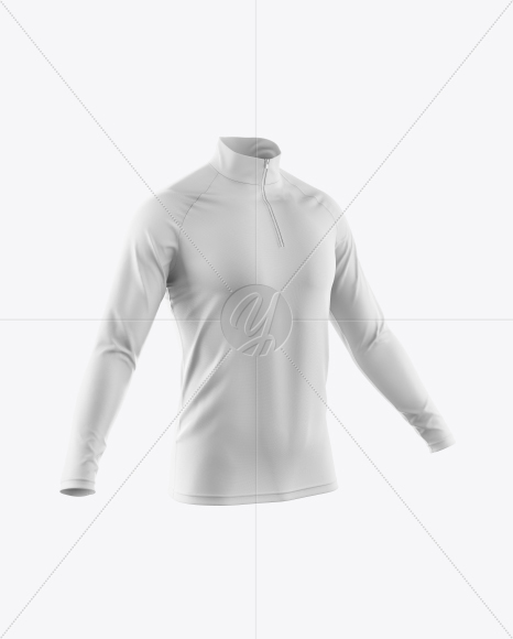 Men's Cycling Jersey With Long Sleeve Mockup - Half Side View