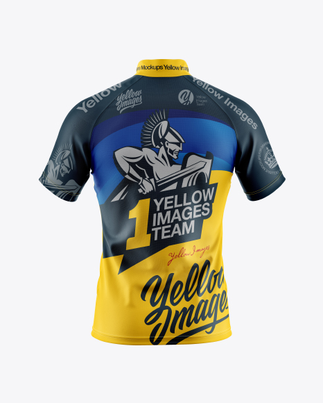 Men S Cycling Jersey Mockup Back View Premium Mockup Free Download