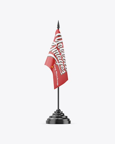 Matte Desk Flag Mockup