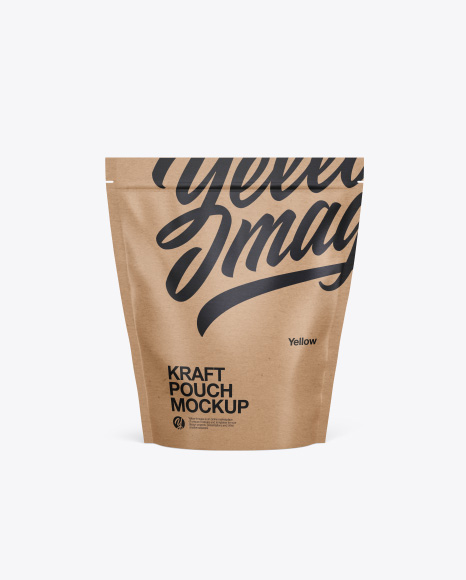 Download Kraft Stand Up Pouch Mockup - Front View Object Mockups