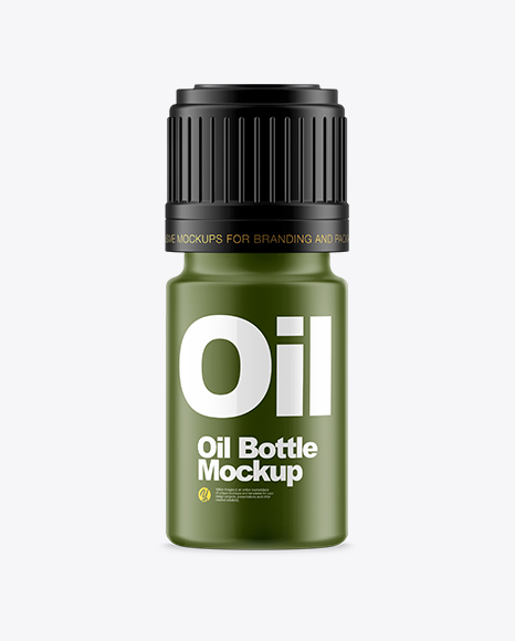 Download Free Matte Small Oil Bottle Mockup PSD Template