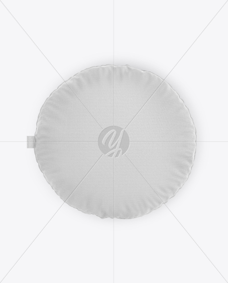 Round Pillow Mockup - Top View