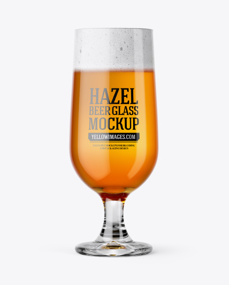 Download Free Embassy Glass with Hazel Orange Beer Mockup PSD Template