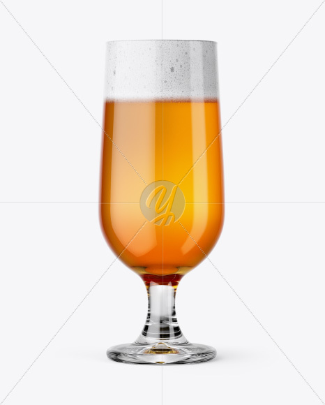 Embassy Glass with Hazel Orange Beer Mockup