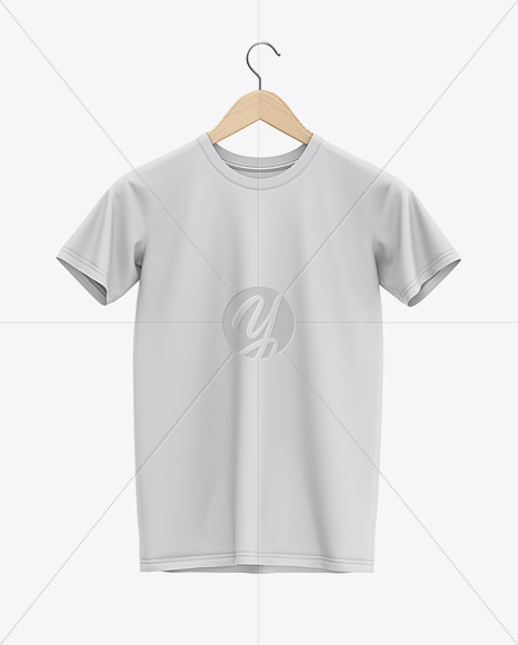 Download Hanging T Shirt Mockup Front View In Apparel Mockups On Yellow Images Object Mockups Yellowimages Mockups
