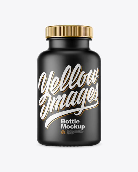 Download Free Matte Plastic Pills Bottle Mockup PSD Template