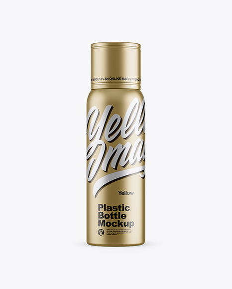 Download Free Metallic Plastic Bottle Mockup - Front View PSD Template